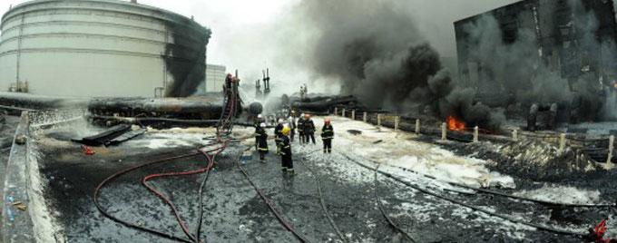 输油管道爆炸火势基本扑灭