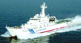 """""""与那国""""号吨位1349吨,长89米。甲板可起降直升机"""
