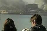 延坪岛冒出浓烟
