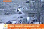 岩手县海港大量汽车漂浮水面