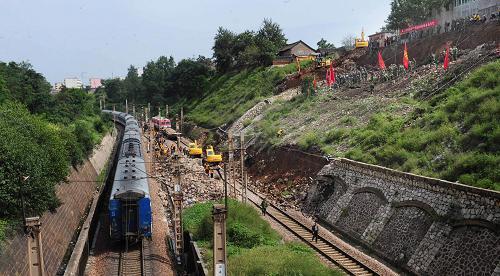 陕西陇海铁路部分中断