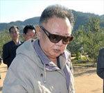 Kim Jong Il visiting a garden