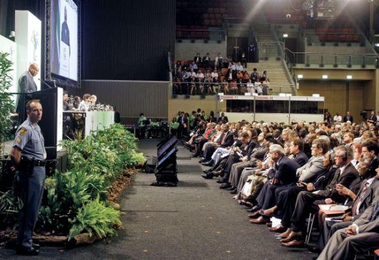 11月28日,南非总统祖马在德班世界气候大会开幕式上发表讲话