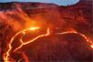 火山岩浆湖喷涌