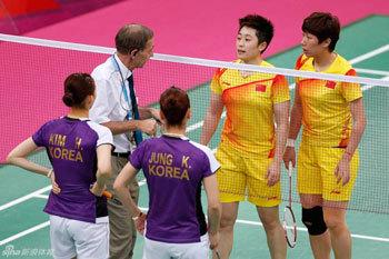 中韩选手与裁判交涉