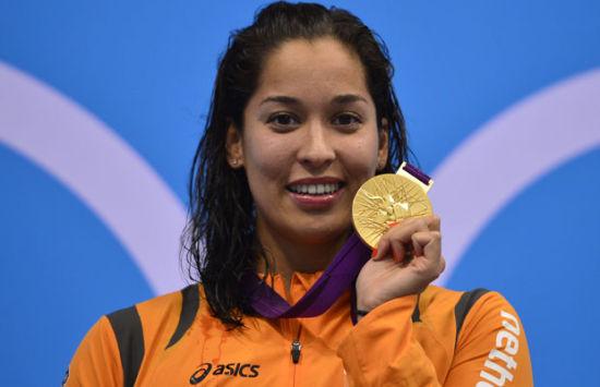 荷兰选手克罗莫维德尤尤获得女子50米和100米自由泳金牌