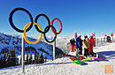 在奥运雪道上撒欢