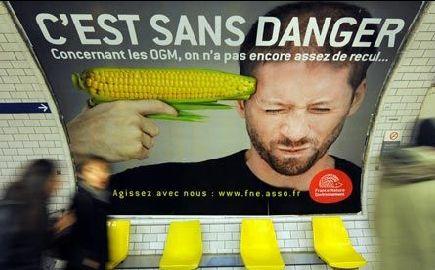 巴黎地铁站里反转基因的宣传广告