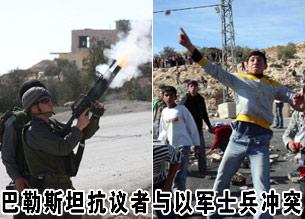 巴勒斯坦抗议者与以军士兵冲突