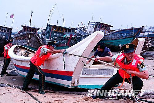 福建已有1400多艘运输船舶回港避风