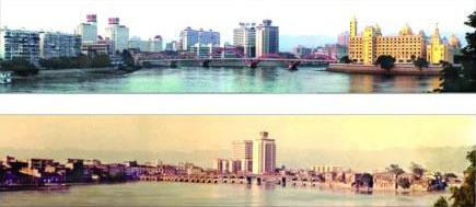 依伯镜头里的两座解放大桥(图)