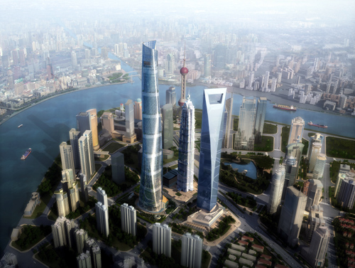China's Shanghai Tower, Renderings, Photos