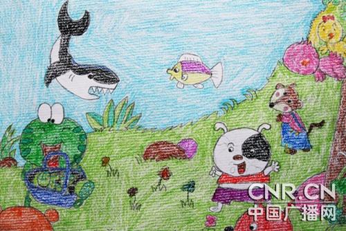 保护地球儿童画海报