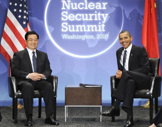胡锦涛同奥巴马在华盛顿举行会晤