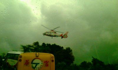 赴台导游口述台风时被困苏花公路28小时经历