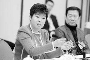 委员于丹对北京治堵提出自己的看法 摄/记者曹博远