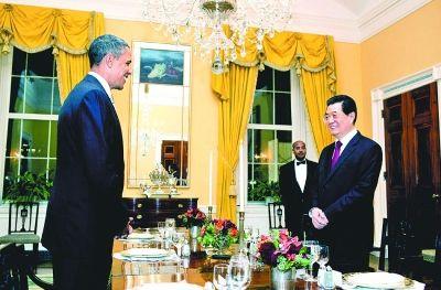 奥巴马款待胡锦涛