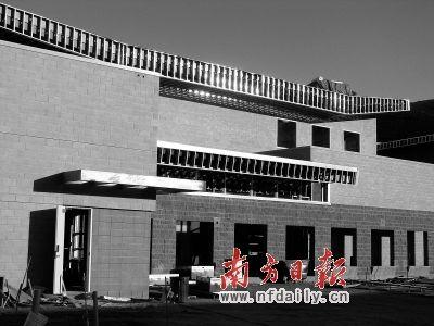 建设中的广东实验中学美国分校。 广东实验中学供图