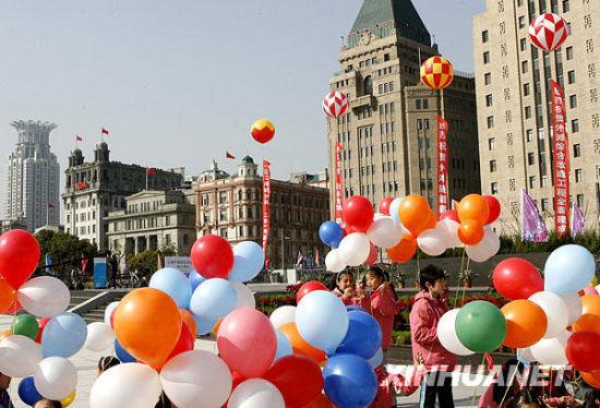 3月28日,上海外滩。新华社记者陈飞摄