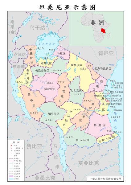 坦桑尼亚地图