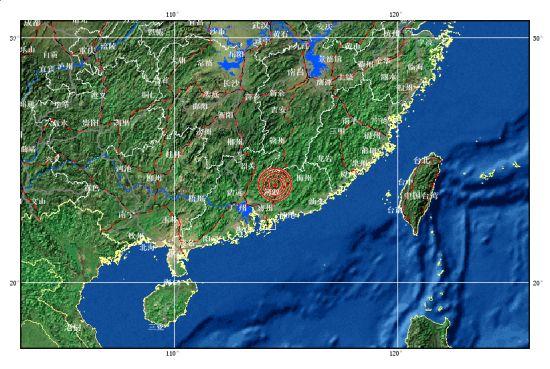 广东省河源市东源县发生4.8级地震