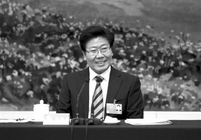 新疆区委书记张春贤。3月7日,人大新疆代表团对中外记者开放。本报记者 吴江 摄