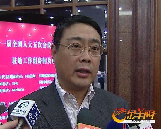广东省广州市副市长王东。金羊网记者 张婷 周聪 林创鑫 摄