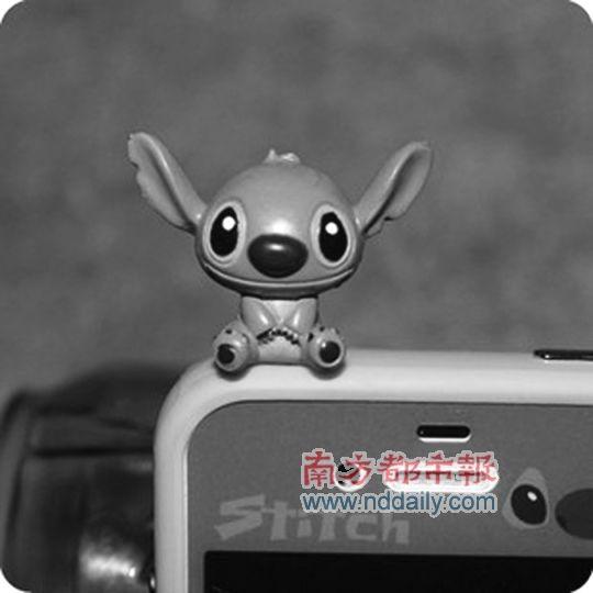 5mm通用 迪士尼大头史迪奇 手机壳防尘塞