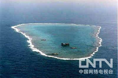 日本东京之南1700公里海面上的冲鸟礁