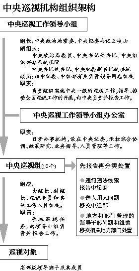 巡视机构组织架构。
