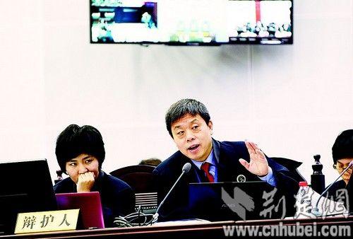 图为:刘维等7人案辩护人在法庭向被告人发问。