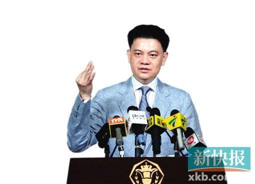 ■昨日上午,广州市政府举行例行新闻发布会,广州市副市长谢晓丹回答记者提问。新快报记者 王小明/摄