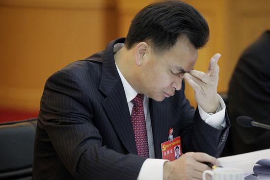 """十八大后广东首只""""大老虎""""、广州市委书记万庆良应声落马。 CFP资料"""