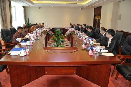 中国代表团团长、外交部副部长刘振民与不丹代表团团长、外交大臣仁增·多吉举行中不第22轮边界会谈