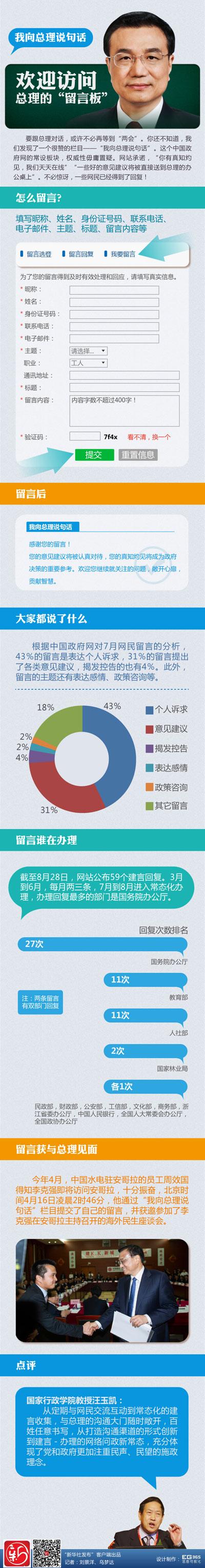 中国政府网常设总理留言板