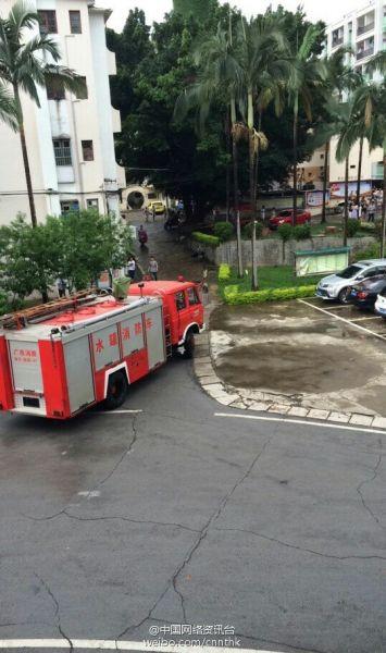广西财经学院一女生宿舍着火 原因不明