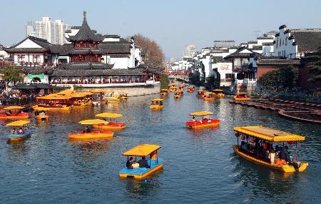 南京景点:秦淮河重现桨声灯影 夫子庙变身繁华闹区