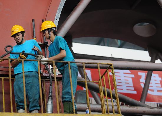 图文:四川灾区企业陆续恢复生产