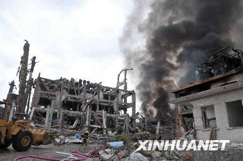广西宜州化工厂爆炸已造成20人死亡(组图)