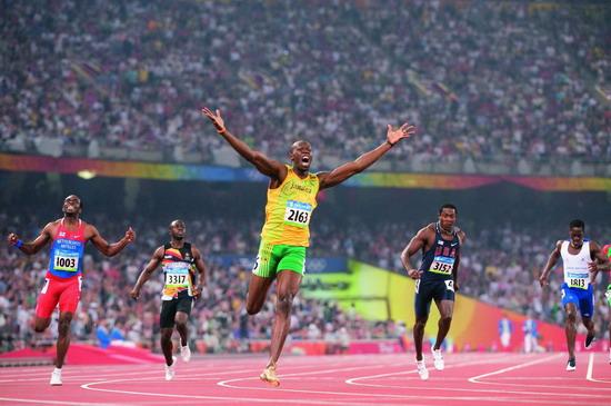 图文:博尔特的200米决赛图片