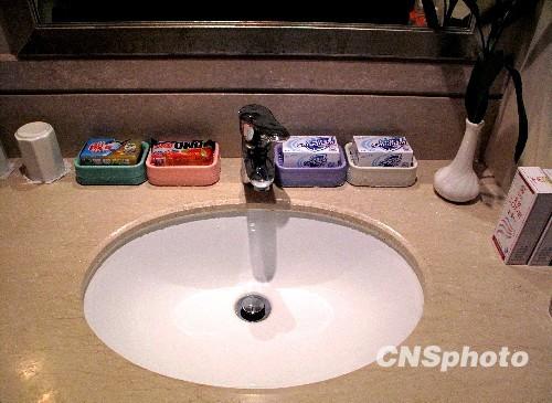 组图:人大代表驻地禁止提供一次性洗漱用品