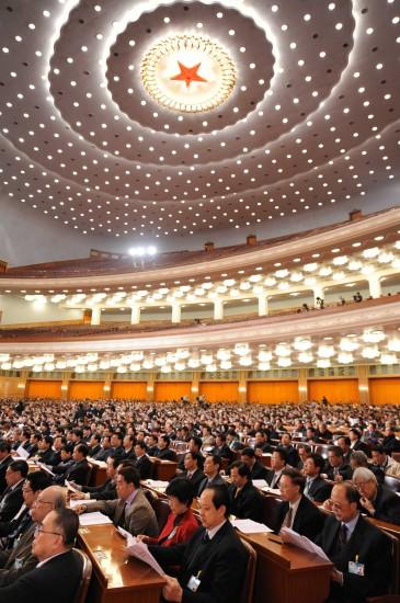 图文:政协十一届三次会议举行第四次全体会议