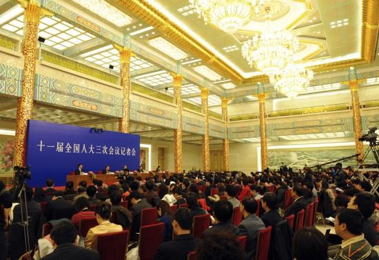 图文:十一届全国人大三次会议举行记者会