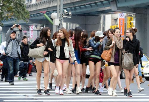Ohne-Hosen-Tag in Taipei