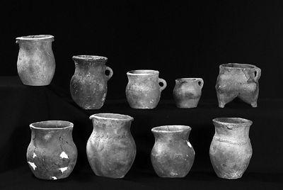 出土的陶器组合,充满戎人特色.