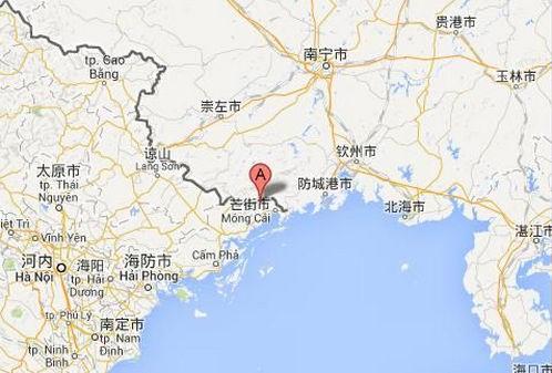 A点为事发地:中越边境广宁省北风生