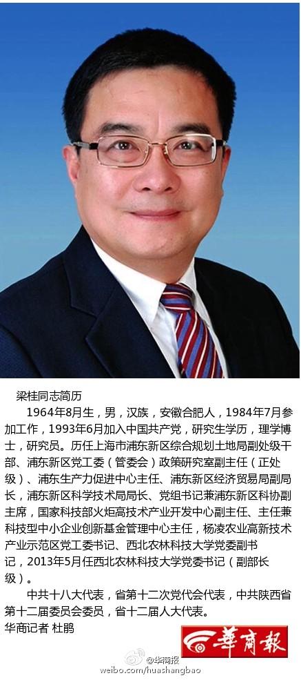 西北农林科技大学书记任陕西省委常委(图\/简历