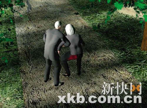 ■村书记中枪后,老伴一段时间才过来,发现其脸色苍白。制图:杨志成