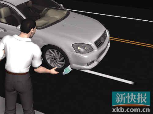 ■大盗建造异响将车逼停。