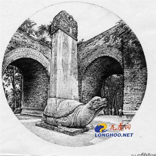 南京民国建筑手绘引怀旧风 作者曾参加本网影像大赛